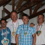 Guido Staatsmeister, Platz 3 für Michi, Platz 4 für Reinhard & Platz 5 für Martin
